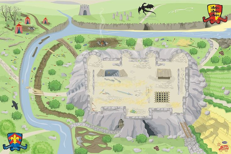 Le Toy Van Child's Original Giant Castle Playmat