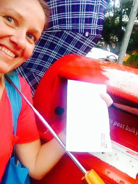Thank you Madelon for your support - and for walking to the mailbox on a rainy Sydney day