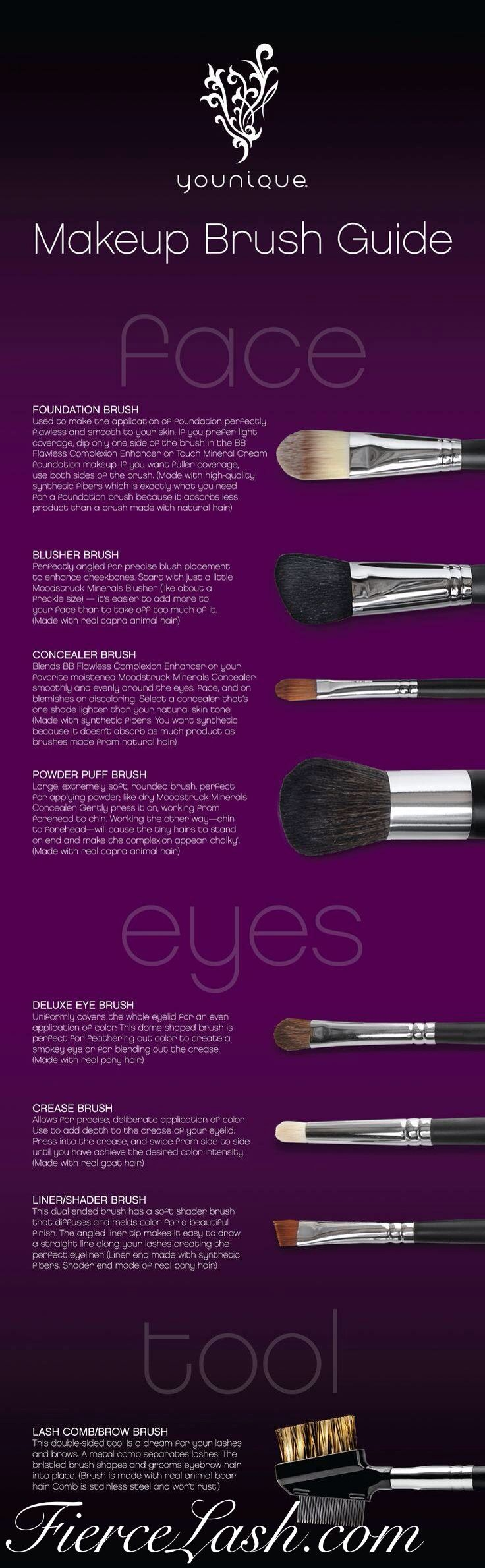Cruelty free and made to last a lifetime. I love the quality of the Younique makeup brushes.