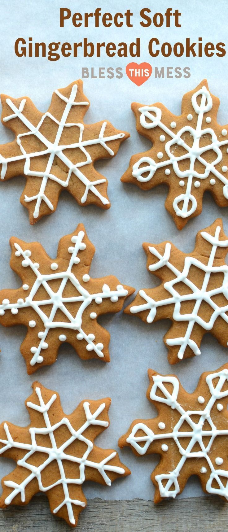 These soft gingerbread cookies are sweet, soft, lightly spiced, and the perfect cut-out cookie recipe.