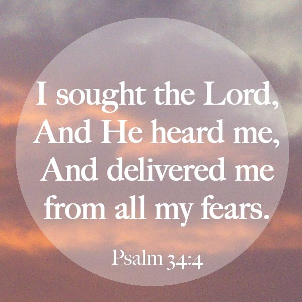 Psalm 34:4 | Psalms | Pinterest | Posts, It is and World