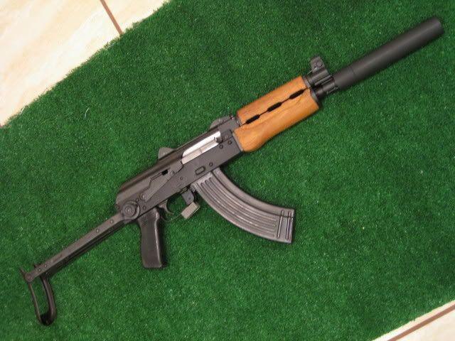 Zastava M92 Underfolder with fixed barrel shroud faux supressor for legal length.