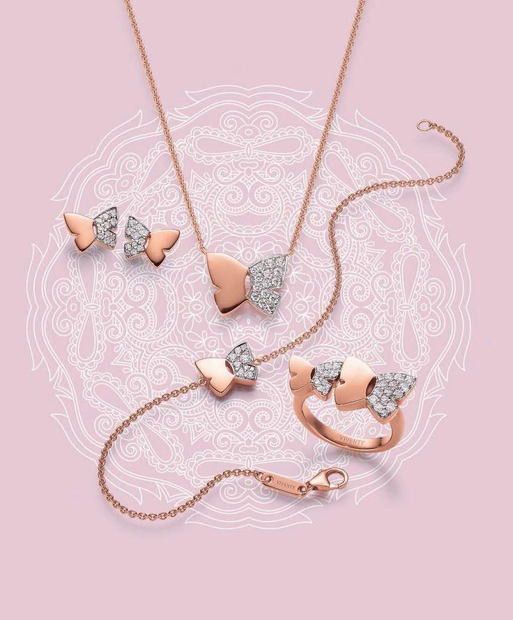 Viventy Jewels |Flirty Flowers |Collier, earrings, bracelet and ring |Kaulakoru, korvakorut, rannekoru ja sormus | www.diamo.fi