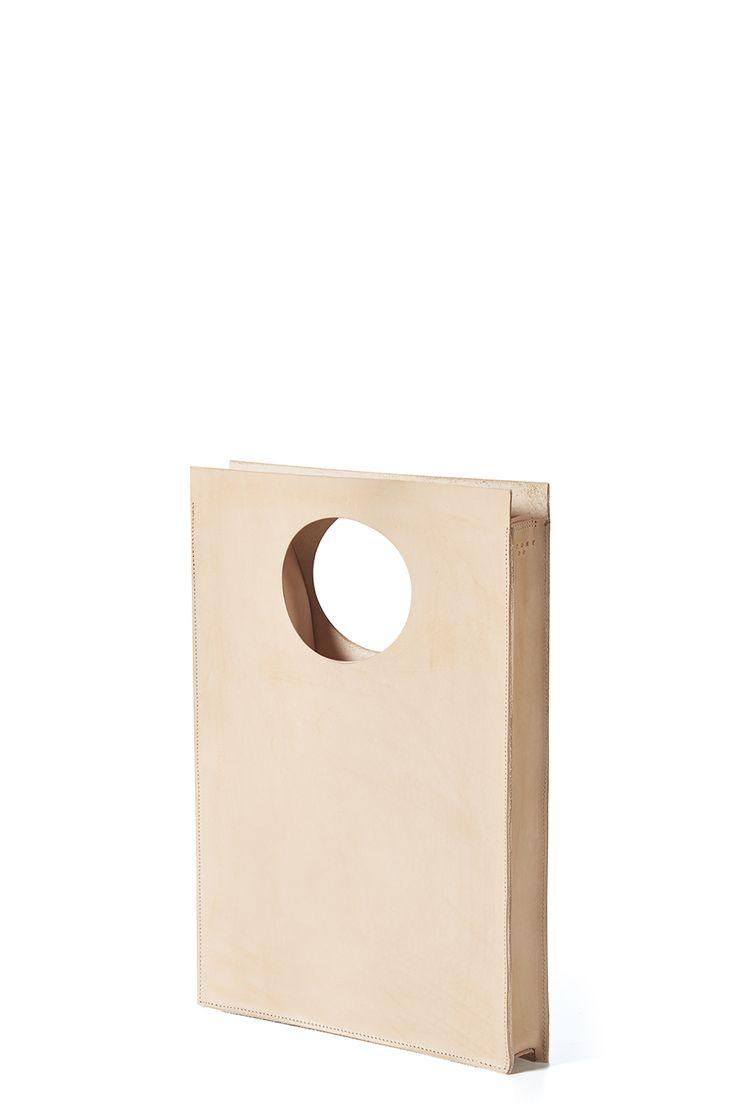 ATOM BAG No 7: natural leather goods / square bag / handbag / shoulder bag / handcrafted in Poland / atomy store designer bag minimalist