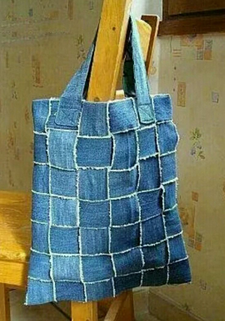 Kot ile Yapılmış Kare Desenli Çanta Modeli Yapılışı ( Anlatımlı )