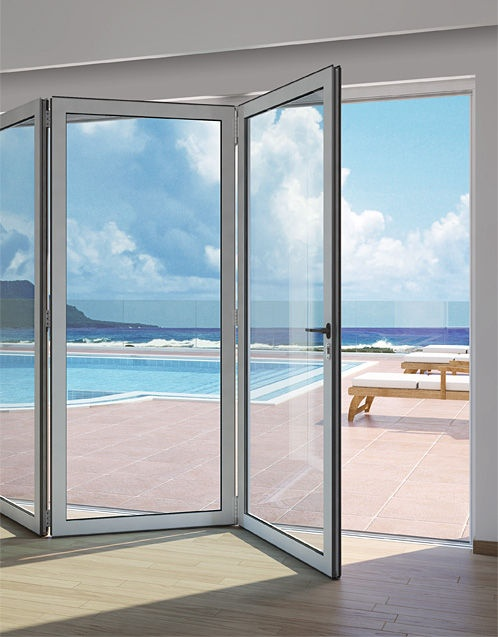 aluminium fold-and-slide patio door PA 460 ALUMINCO