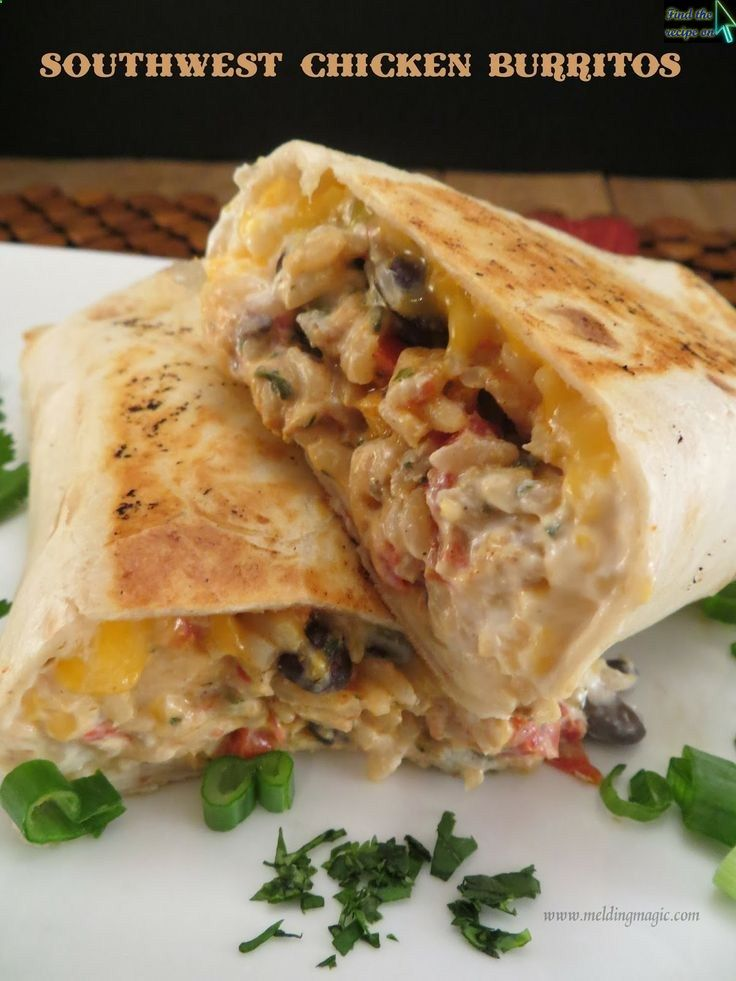 Southwest Chicken Burritos | Recipes And Food Gift ...