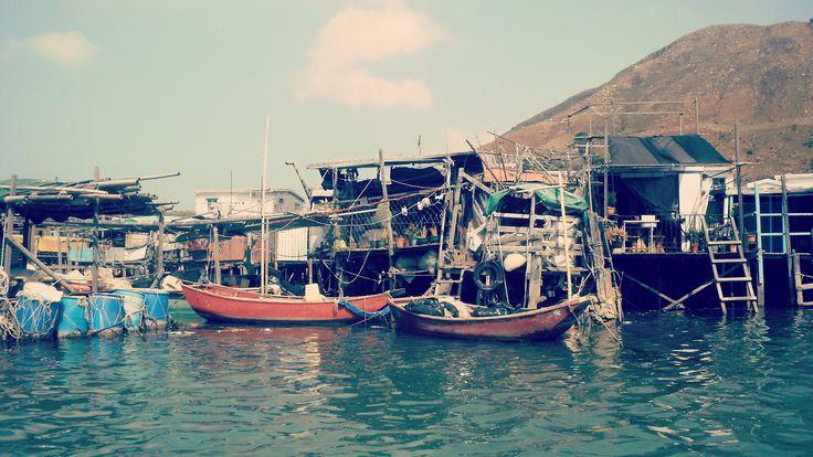 Hongkong Tai o village - fishing boats