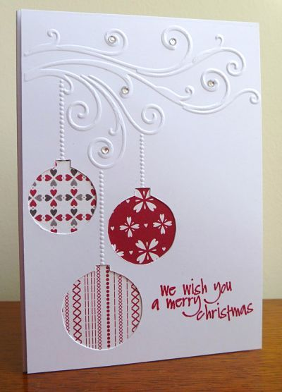 We Wish You a Merry Christmas card from Stamps, Pencils and Paper! Includes directions on how to make.