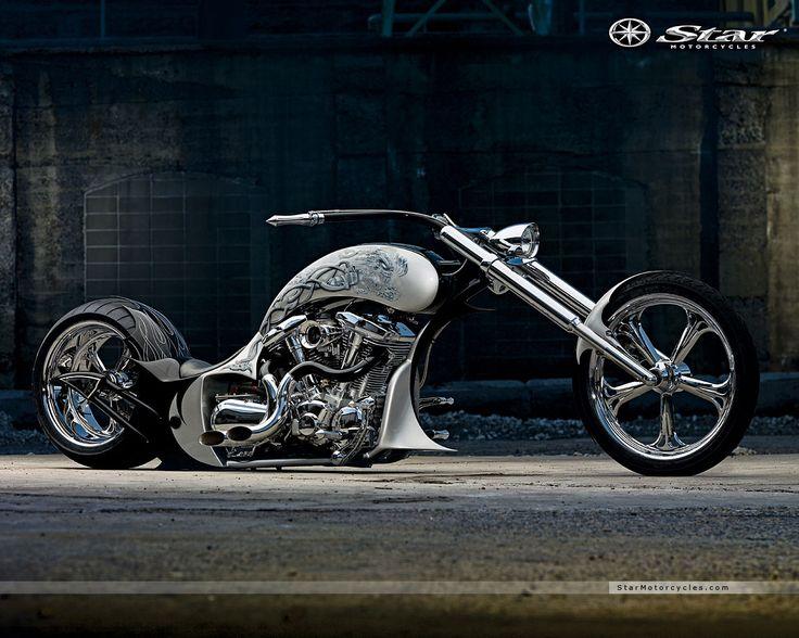 custom motorcycle images | Cool Custom Bike, Bike, Chopper.   Cow catcher, cool.