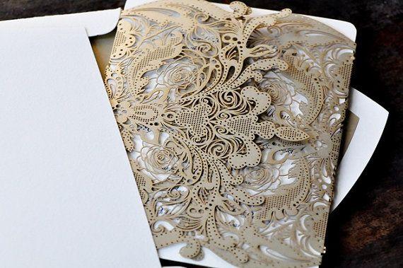 The Great Gatsby Lace Wedding Invitation #houstonwedding #houstonweddingvenue #weddingplanning