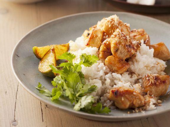 Hühnchenstreifen auf Kokosreis ist ein Rezept mit frischen Zutaten aus der Kategorie Hähnchen. Probieren Sie dieses und weitere Rezepte von EAT SMARTER!