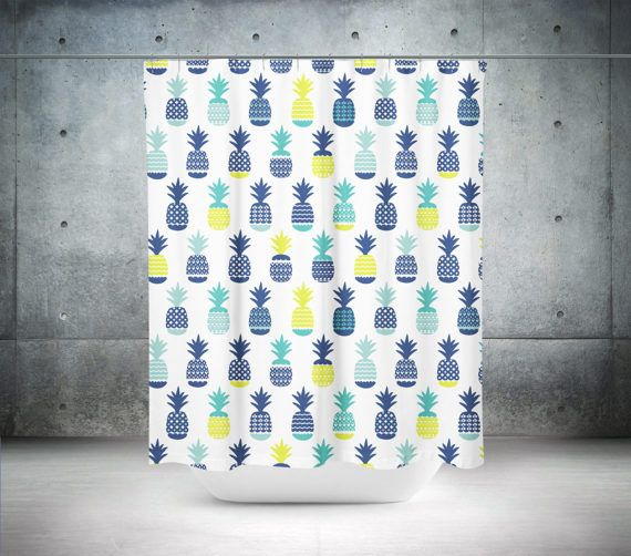 Pineapple Shower Curtain  Pineapple Bath Curtain  Pineapple
