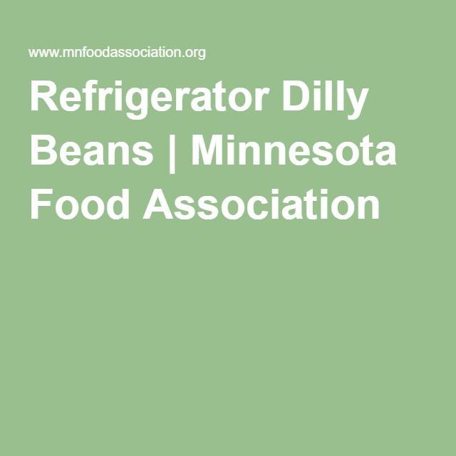 Refrigerator Dilly Beans | Minnesota Food Association