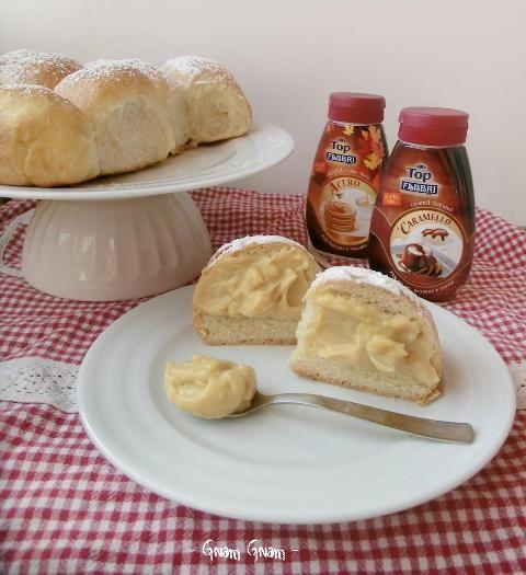 Danubio dolce con crema pasticcera al caramello | Ricetta