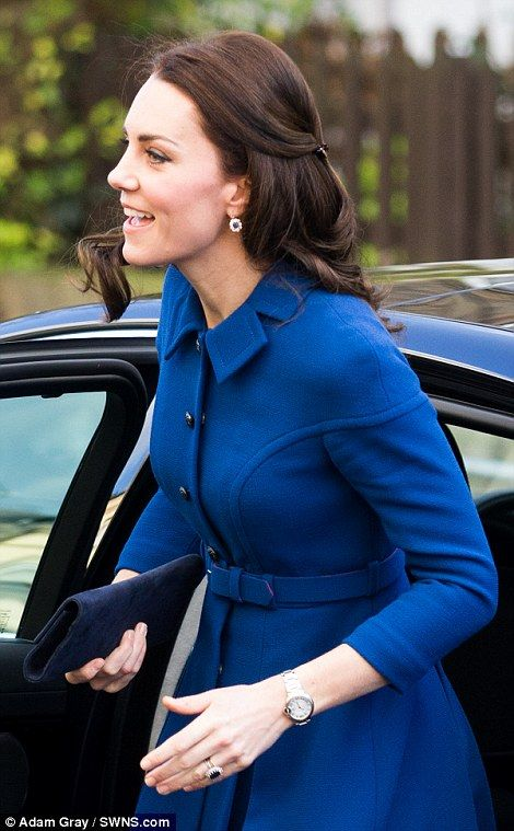 Kate arriving at the Anna Freud Centre, of which she is the royal patron...