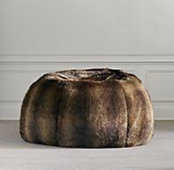 Grand Luxe Faux Fur Bean Bag - Sable ohmygod how I covet this