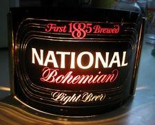 (VINTAGE) NATIONAL BOHEMIAN BEER LIGHTED - LIGHT UP SIGN BALTIMORE MD - MARYLAND