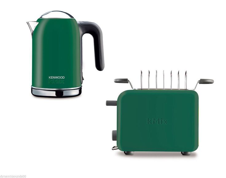 Kenwood Kettle & Toaster set in a perfect green shade.