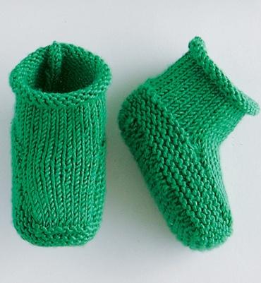 Modèle chaussons unis layette