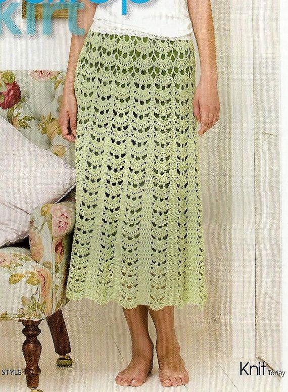 Instant Download - PDF-  Ladies Skirt Crochet Pattern Size 8 - 18