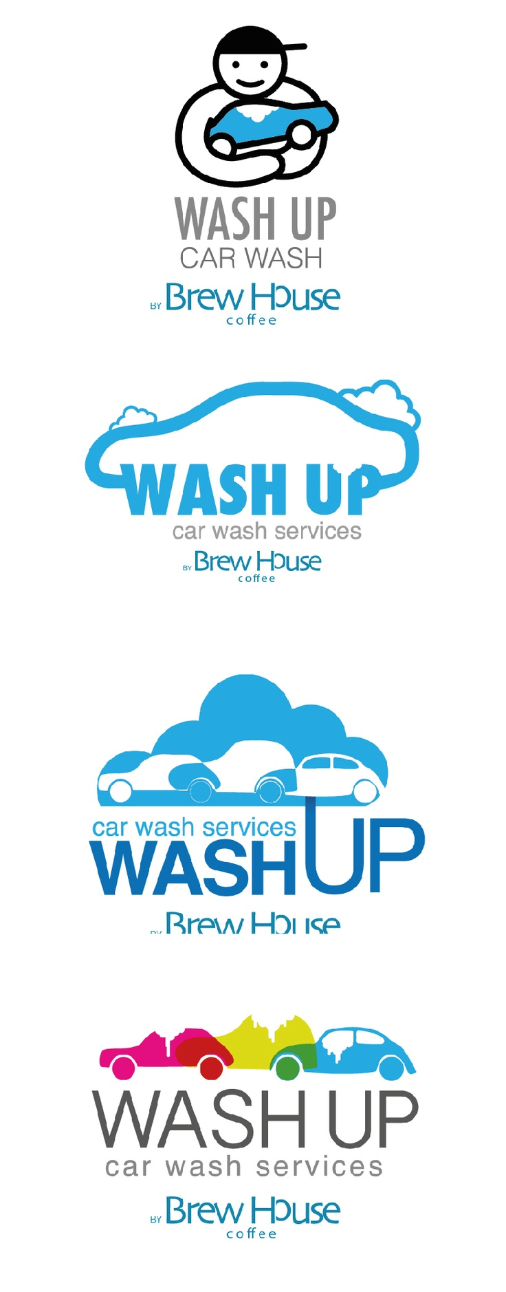 wash up logo / Car wash