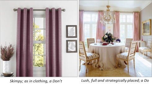 Where to hang curtains: The Do's and Dont's! 6-4-13