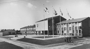 The new municipality hall in 1957