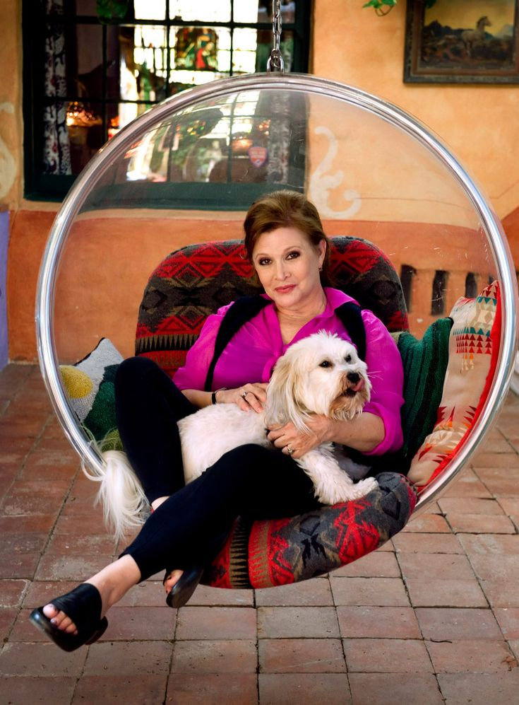File – Actress Carrie Fisher poses during an interview at her home in Coldwater Canyon in 2012. (File photo by Leonard Ortiz, Orange County Register/SCNG)