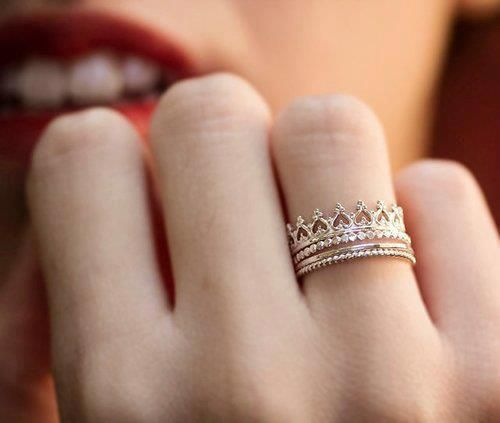 """Dainty crown ring. I like this because my name means """"crown"""""""