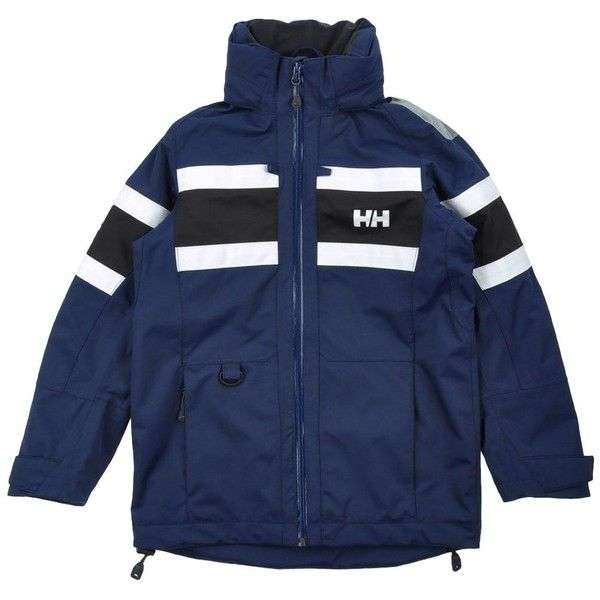 Helly Hansen Jacket ($158) ❤ liked on Polyvore featuring outerwear, jackets, tops, dark blue, pocket jacket, zipper jacket, turtleneck tops, dark blue jacket and blue jackets