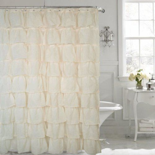 1000 ideas about curtain length on pinterest drapery panels home decor store and curtains - Waves of ruffles shower curtain ...