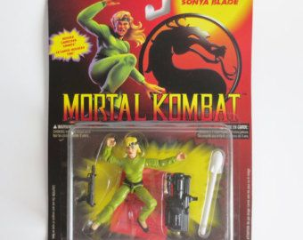 Mortal Kombat Sonya Blade Hasbro Action Figure, 1994 Vintage Toy, Mortal Kombat Video Game, New  in Package, New Old Stock