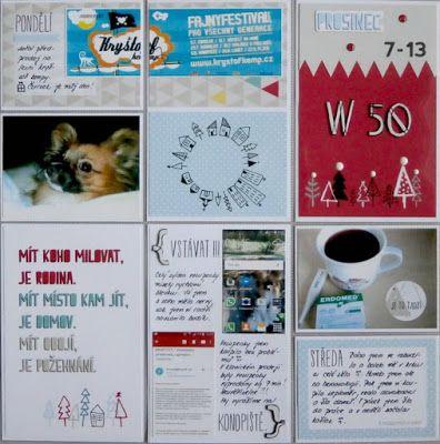 Project life 2015 - 50. týden (levá strana)