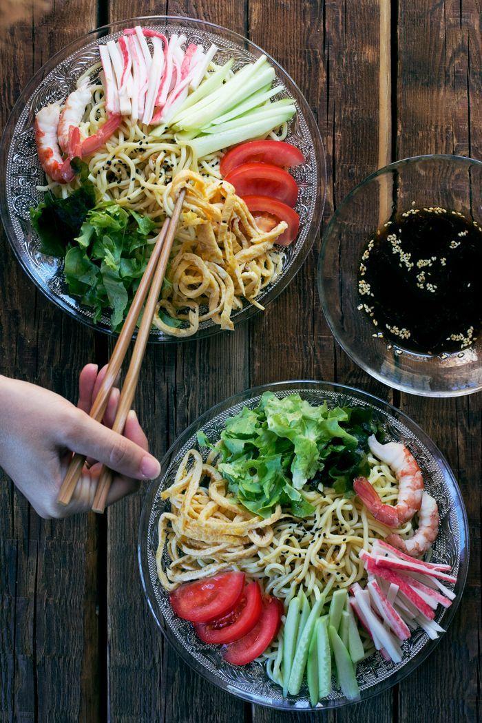 Hiyashi-chuka - Japanese cold noodles for summer