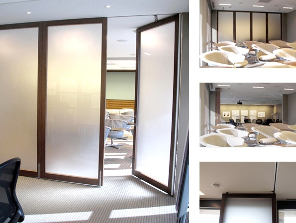 17 best images about wall partitions bi fold glass windo for Sliding wall track