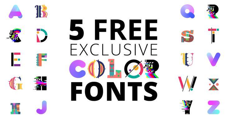 Fontself presenta la creación de fuentes de color y 5 tipografías gratis para mostrar cómo es el futuro de la tipografía- ColorFontWeek
