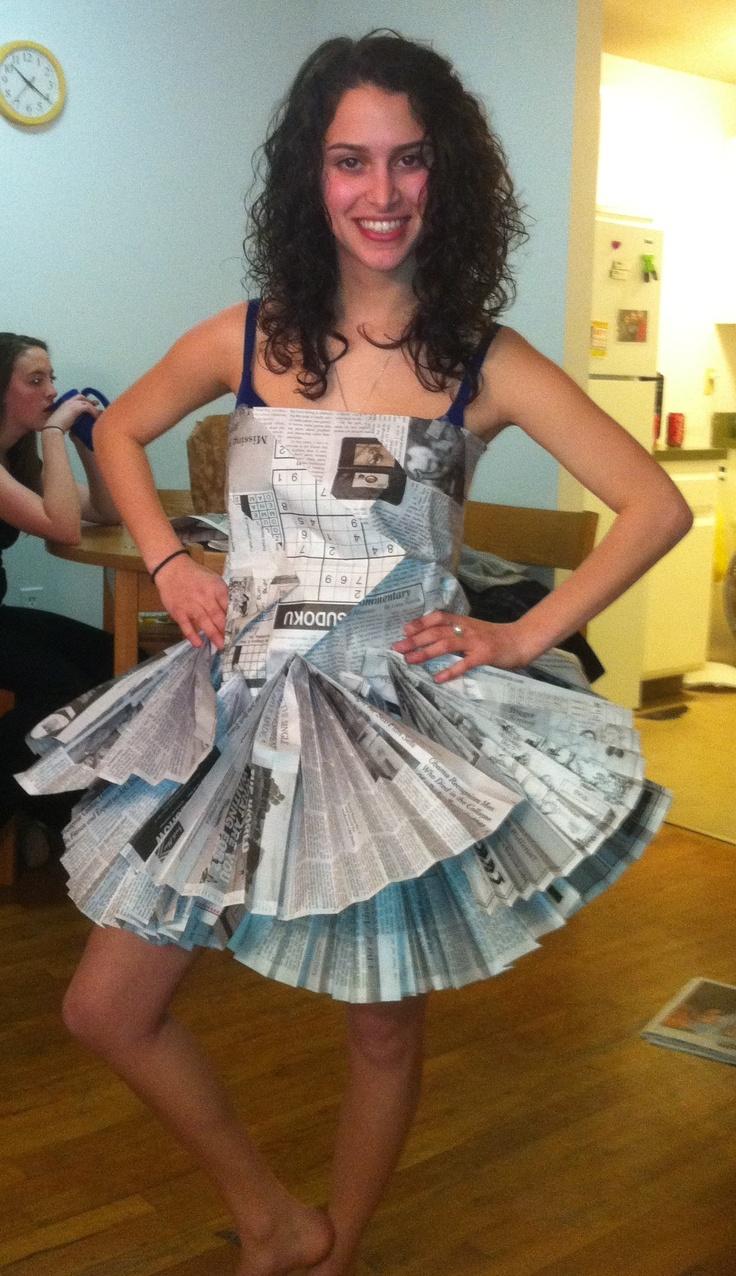 ABC party newspaper dress | Creativity Makes the World Go ...