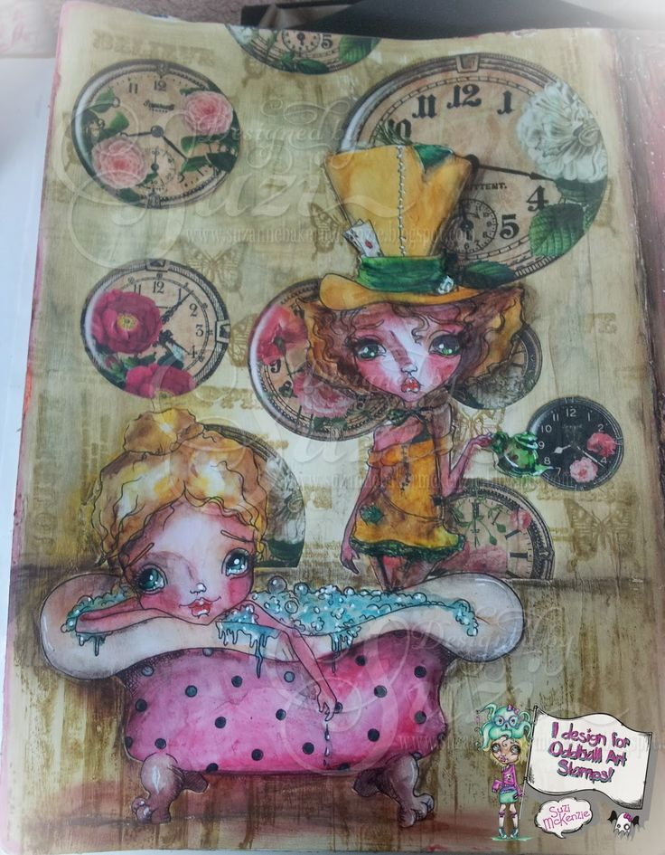 Today I'd like to share with you  a  page from my Art Journal that   I've created for the latest challenge over at the  Oddball Art Stamps ...