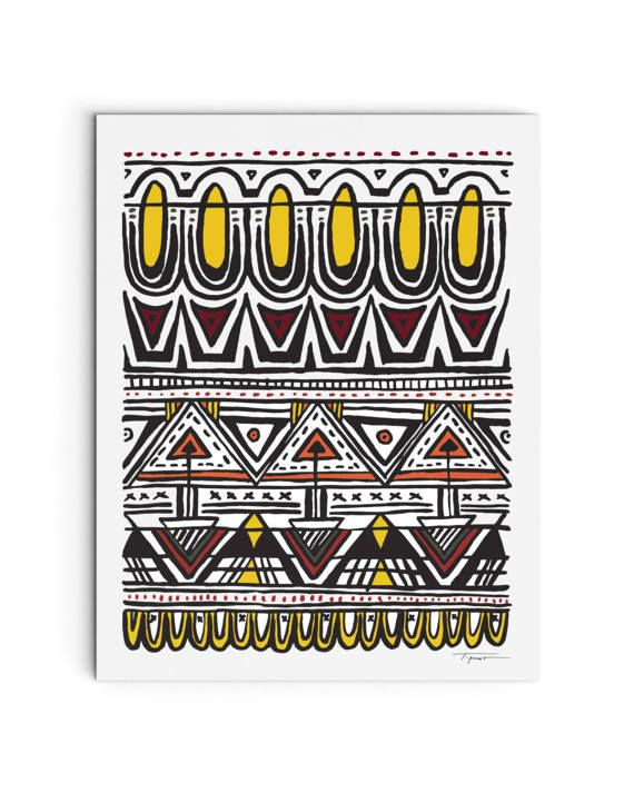 Aztec Inspired Pattern Art Print