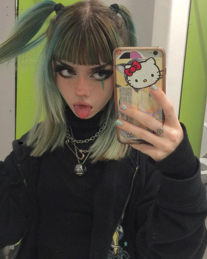 Cute Goth Girl, Punk Makeup, Goth Hair