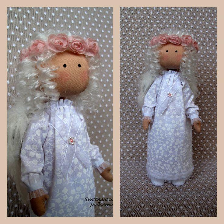 Текстильная кукла Ангел.