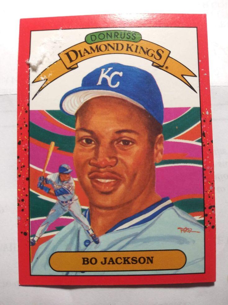 1989 bo jackson card in fair condition slight damage in