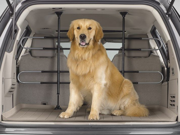 Keep those paws and claws off the upholstery!    The WeatherTech® Pet Barrier is adjustable, expandable and keeps pets safely in the rear of your vehicle.