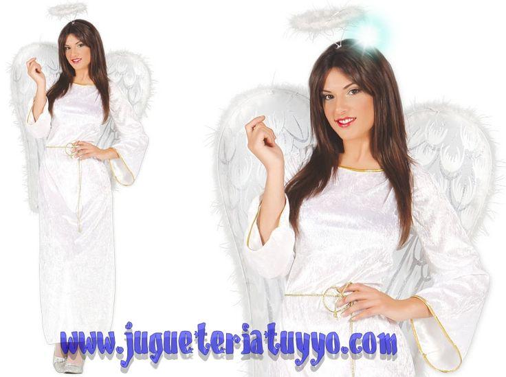 Comprar disfraz de mujer angel bueno talla 42 44 a for Disfraces de angeles