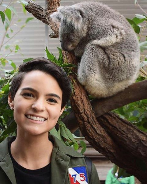 Brianna Hildebrand. Actually had the pleasure of meeting this gem last summer! Had lunch with friends + her and her gf out in Carpinteria at Rincon Brewery. Had no idea she was going to be in Deadpool till after. 😂