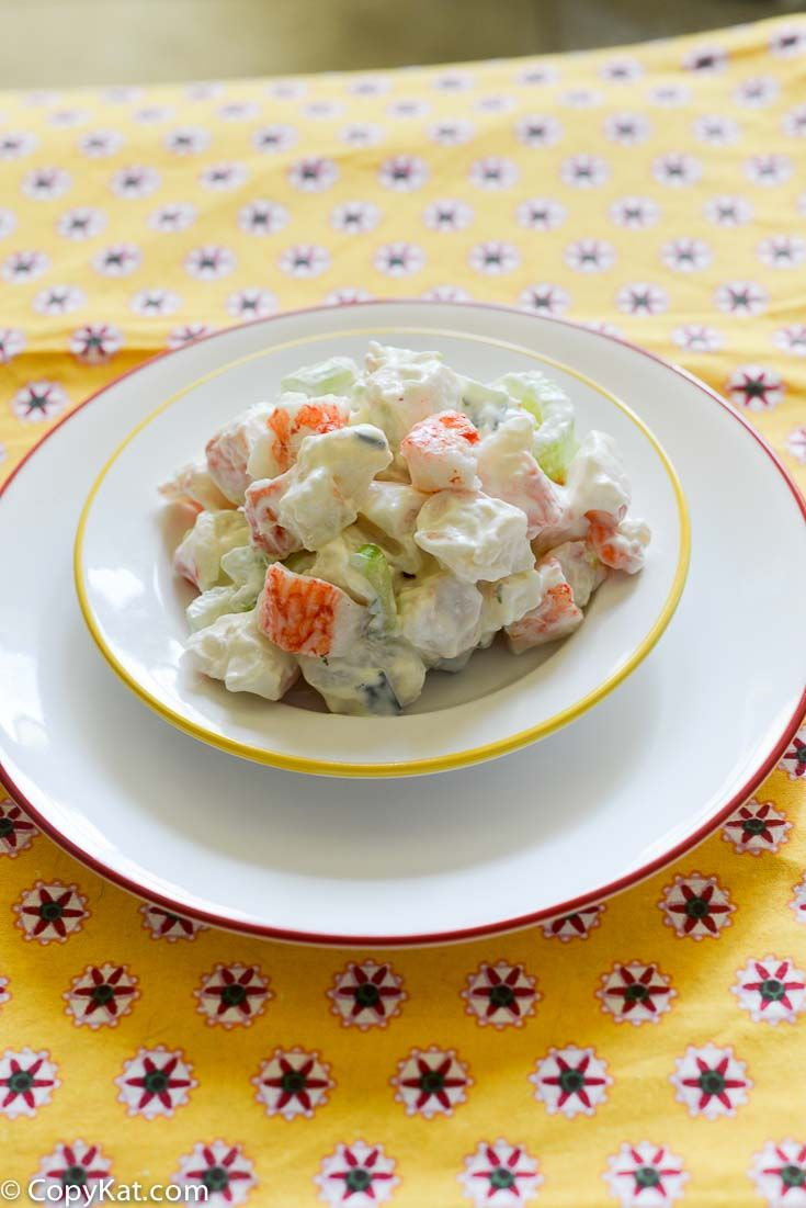 The Albertson's Krab Salad is some of the best imitation crab salad around. You may not be able to run out to your local Albertson's but you can enjoy this at home. Look for bulk imitation crab that that is sold at many grocery stores.