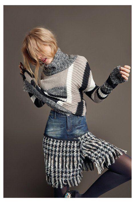 Gonna con due stoffe da donna - Celia Scopri la collezione autunno/inverno 2016!
