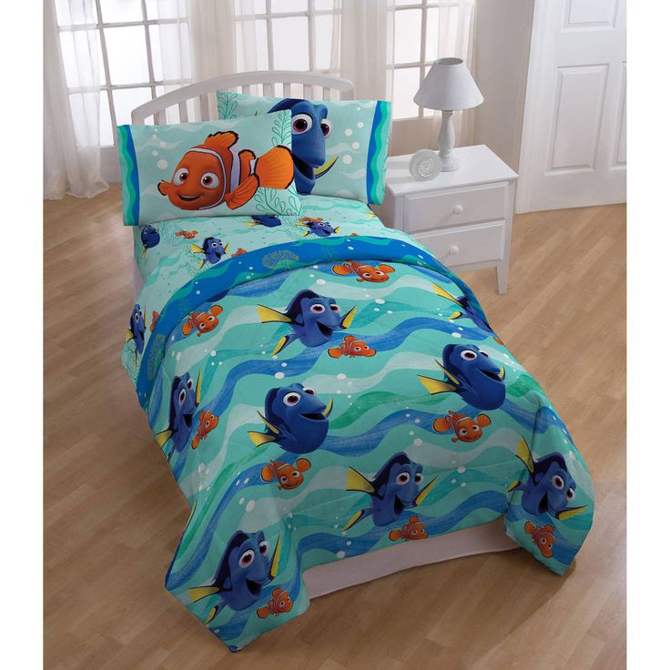 Finding Dory Bed In A Bag 5 Piece Kids Twin Bedding Set with BONUS Tote #Disney