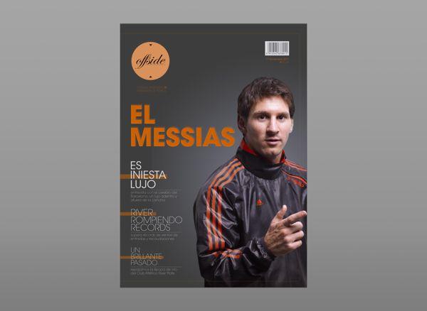 """Offside"" revista de fútbol dirigida a mujeres by Ludmila DG, via Behance"